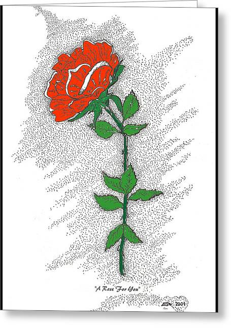 Special Occasion Digital Art Greeting Cards - A Rose For You Greeting Card by Glenn McCarthy Art and Photography