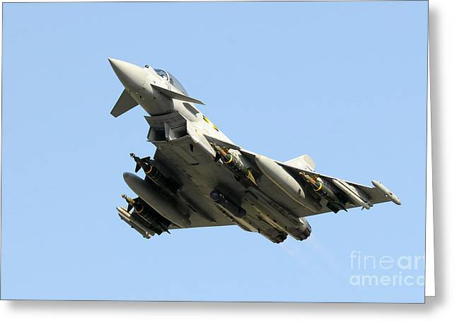 A Royal Air Force Typhoon  Greeting Card by Paul Fearn