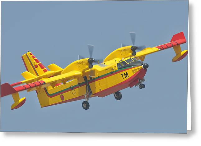 A Royal Moroccan Air Force Cl-415 Greeting Card by Giovanni Colla