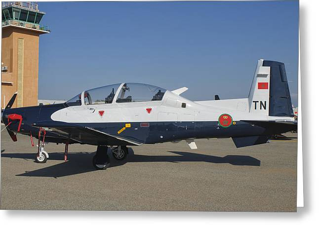 A Royal Moroccan Air Force T-6 Texan II Greeting Card by Giovanni Colla