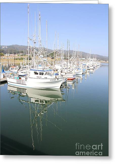Half Moon Bay Greeting Cards - A Safe Harbor Greeting Card by Christiane Schulze Art And Photography