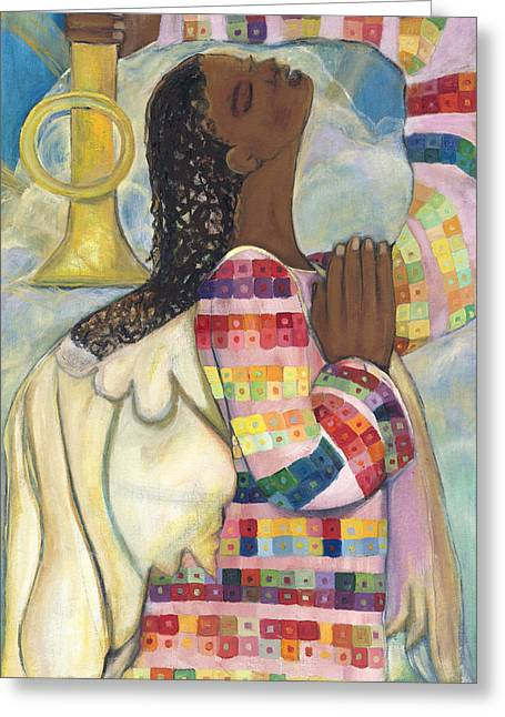 African Angel Greeting Cards - A Saint and A Sinner Greeting Card by Marquita Willis