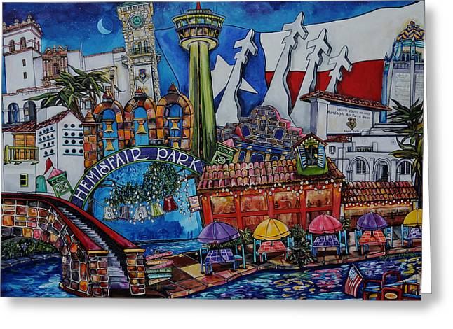 At Work Greeting Cards - A Salute To San Antonio Greeting Card by Patti Schermerhorn