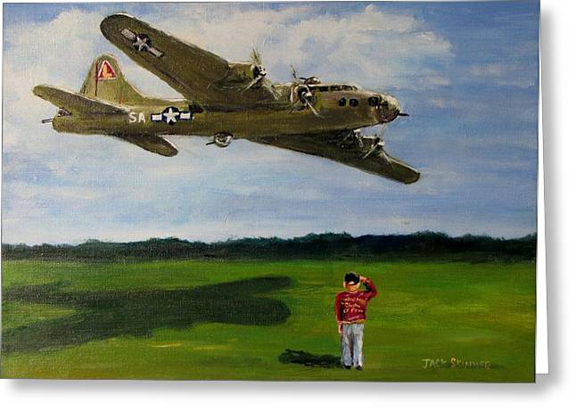 Jack Skinner Paintings Greeting Cards - A Salute to the Greatest Generation Greeting Card by Jack Skinner