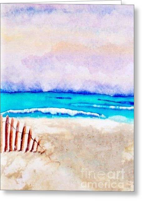 A Sand Filled Beach Greeting Card by Chrisann Ellis