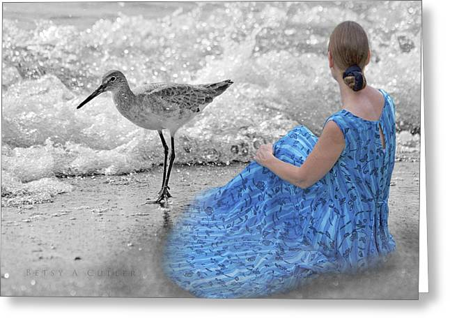 Sandpipers Greeting Cards - A Sandpipers Dream Greeting Card by Betsy C  Knapp