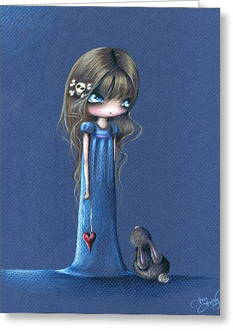 A Sapphire Song Greeting Card by Sour Taffy