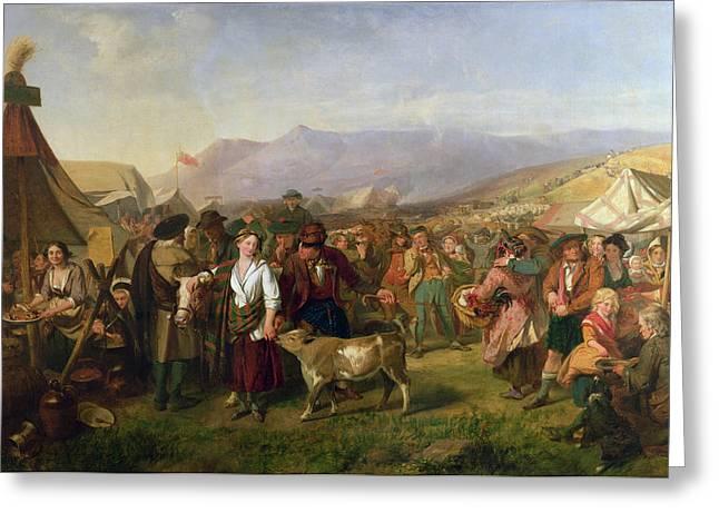 A Scottish Fair Greeting Card by John Phillip
