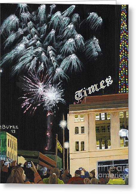 Night Scenes Greeting Cards - A Scranton Times Christmas Greeting Card by Austin Burke