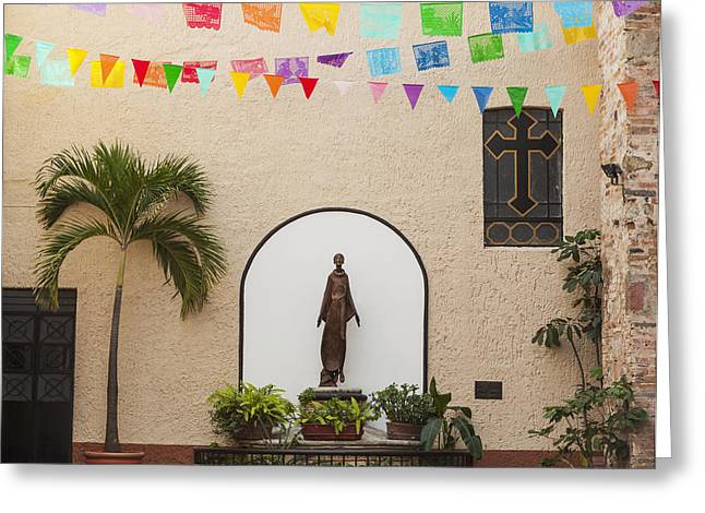 Art Of Building Greeting Cards - A Sculpture Of San Francisco De Assisi Greeting Card by Debra Brash