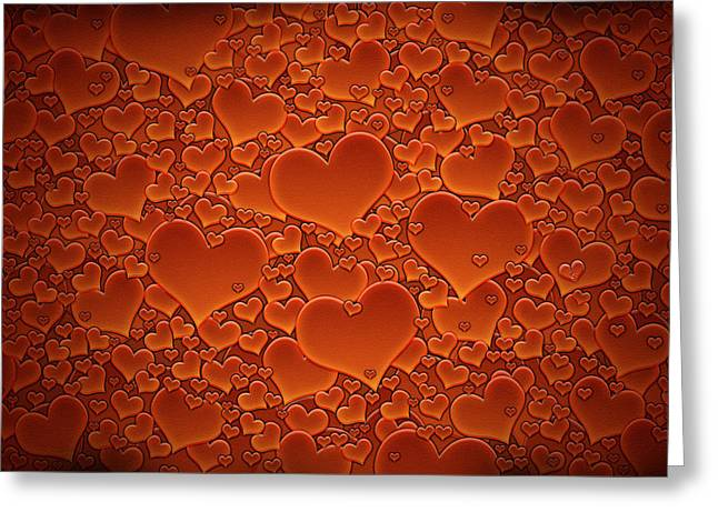 A Sea of Hearts Greeting Card by Gianfranco Weiss