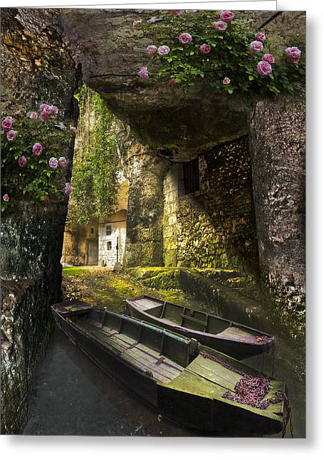 Chateau Greeting Cards - A Secret Place Greeting Card by Debra and Dave Vanderlaan