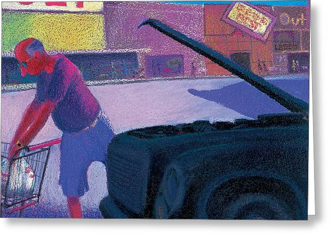 Citizens Pastels Greeting Cards - A Senior Moment Greeting Card by Jeff Leedy