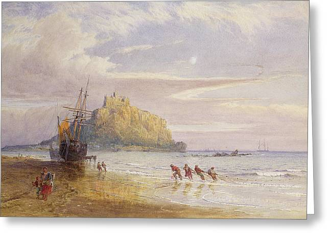 Net Greeting Cards - A September Evening, St Michaels Mount, Cornwall Greeting Card by John Mogford