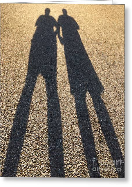 A Shadowy Pair Greeting Card by Amy Cicconi
