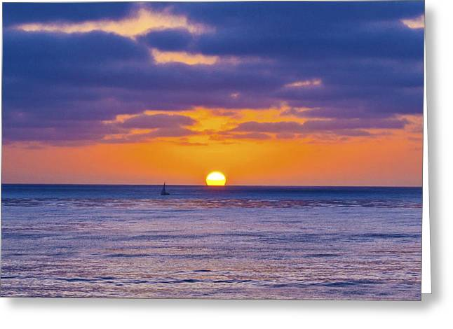 Bloat Greeting Cards - A Shared Sunset Greeting Card by Patrick Moore