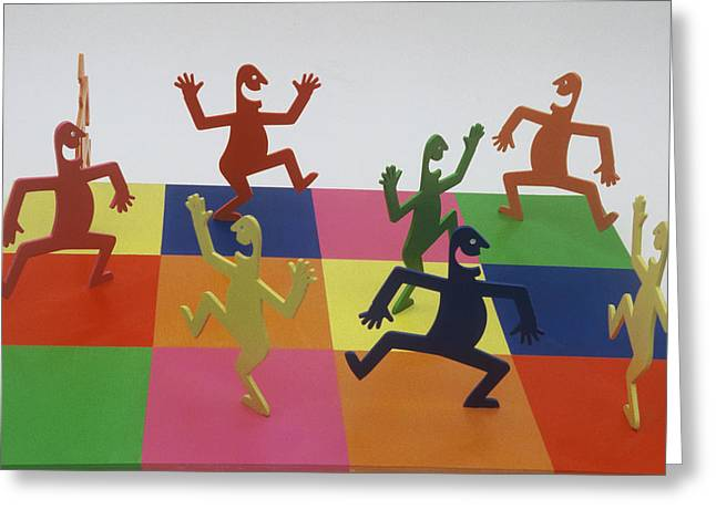 A Shortcut To Happiness - Dancing Greeting Card by Peter Michel