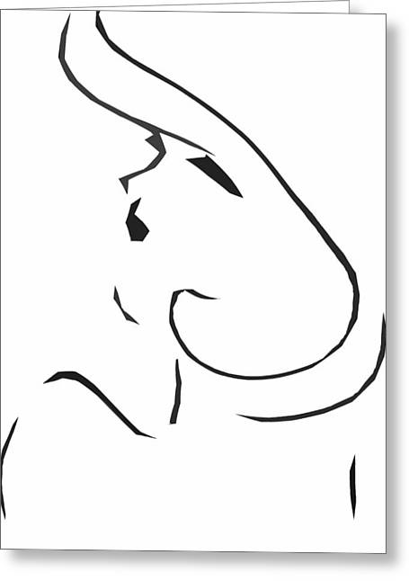 A Shoulder Kiss Greeting Card by JC Photography and Art