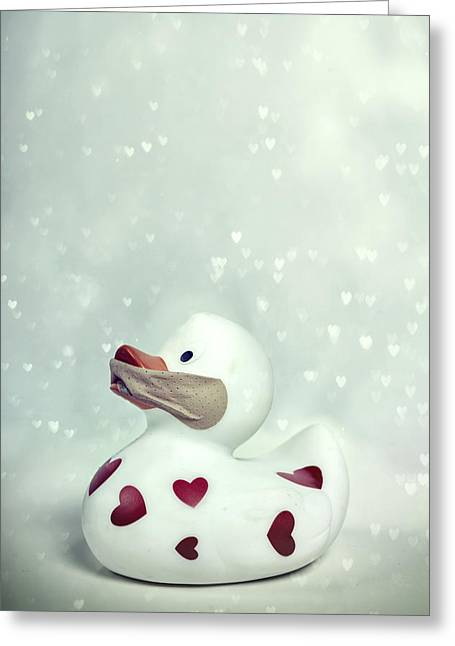 Rubber Ducky Greeting Cards - A shut mouth catches no flies Greeting Card by Joana Kruse