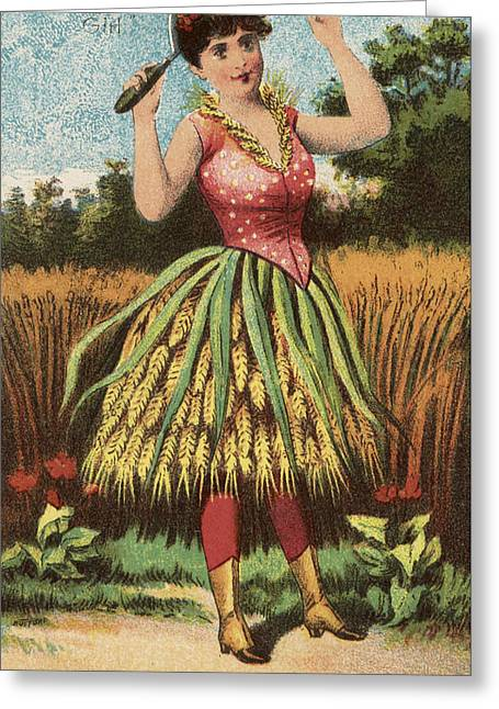 Skirt Greeting Cards - A Shweat girl Greeting Card by Aged Pixel