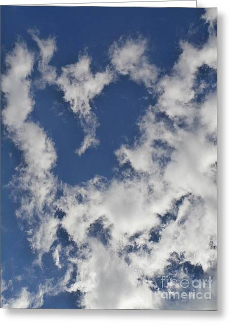 Eunice Miller Greeting Cards - A Sign From Above.....LOVE Greeting Card by Eunice Miller