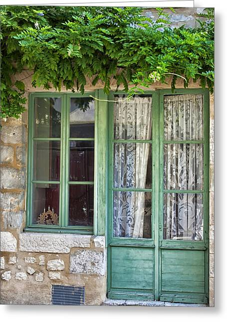 French Doors Greeting Cards - A Simple House Greeting Card by Nomad Art And  Design