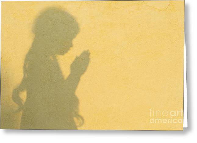 Innocence Greeting Cards - A Simple Prayer Greeting Card by Tim Gainey