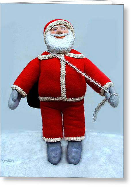 Loving Sculptures Greeting Cards - A Simple Santa Greeting Card by David Wiles