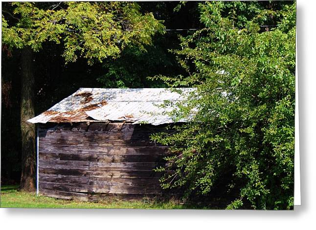 Tin Roof Greeting Cards - A Simple Shelter Greeting Card by Kris  Hicks