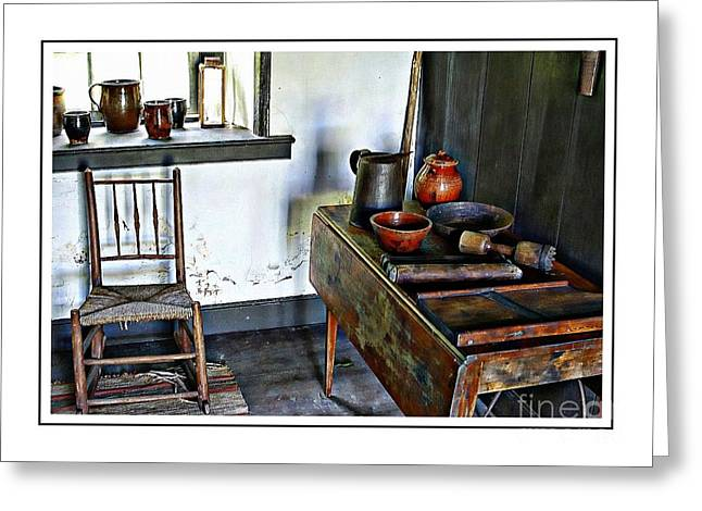 Old Pitcher Greeting Cards - A Simpler Time Greeting Card by Marcia Lee Jones