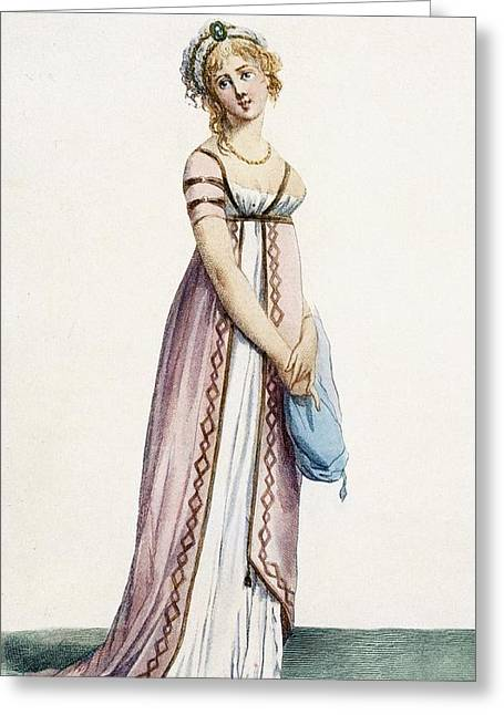 A Simply Designed Ladys Ball Dress Greeting Card by Pierre de La Mesangere