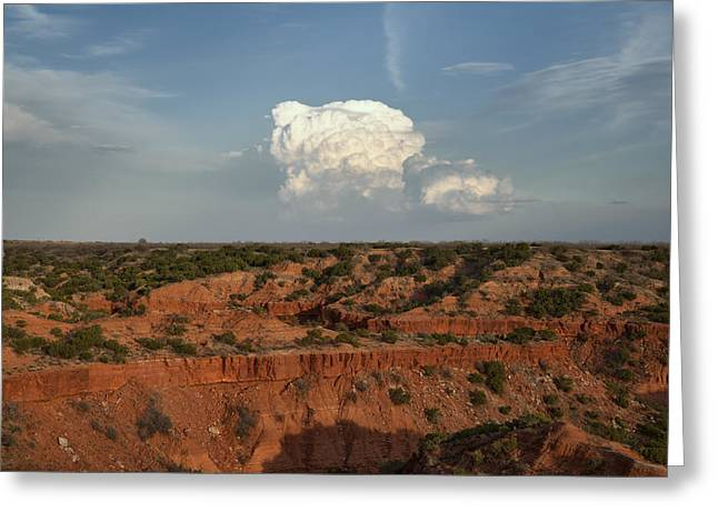 Caprock Canyons State Park Greeting Cards - A Single Cloud Greeting Card by Melany Sarafis