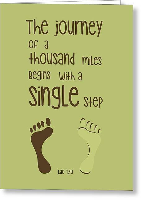 A Single Step Greeting Card by Gina Dsgn