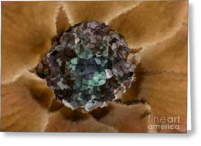 A Sky Full of Lighters Brown Teal Greeting Card by Holley Jacobs