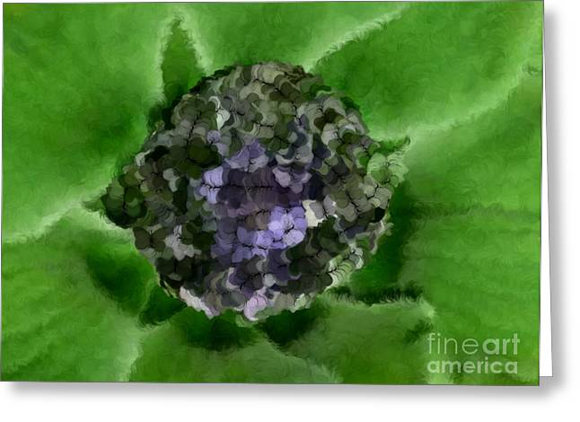A Sky Full of Lighters Green Blue Greeting Card by Holley Jacobs