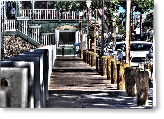 A Sleepy Lahaina Town Greeting Card by Tamara Dattilo