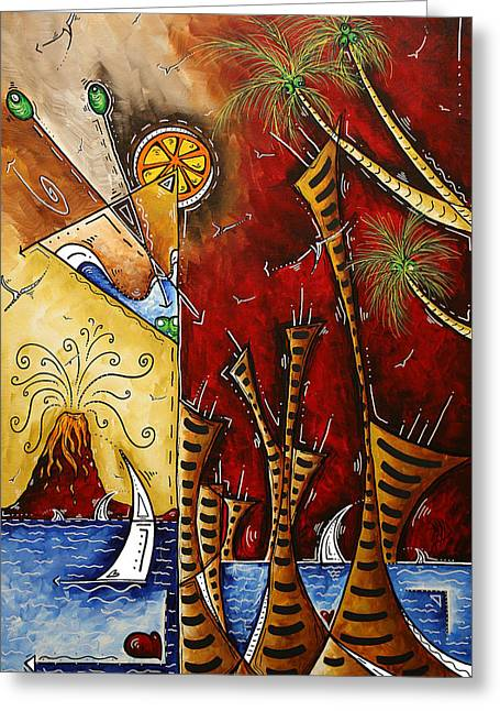 Licensor Greeting Cards - A Slice of Paradise by MADART Greeting Card by Megan Duncanson