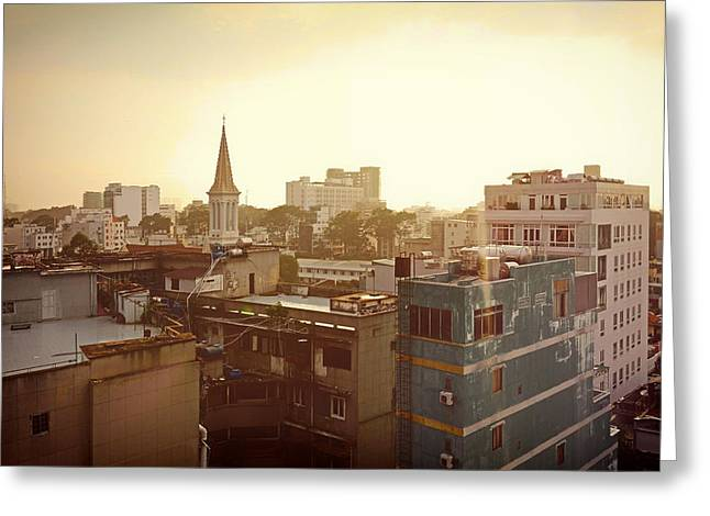 Drab Greeting Cards - A Slice of Saigon Greeting Card by Mountain Dreams