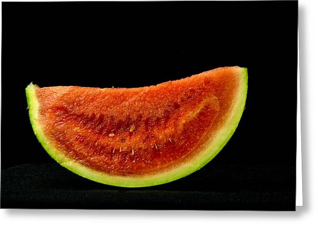 Watermelon Greeting Cards - A Slice of Watermelon Greeting Card by Sergei Baranov