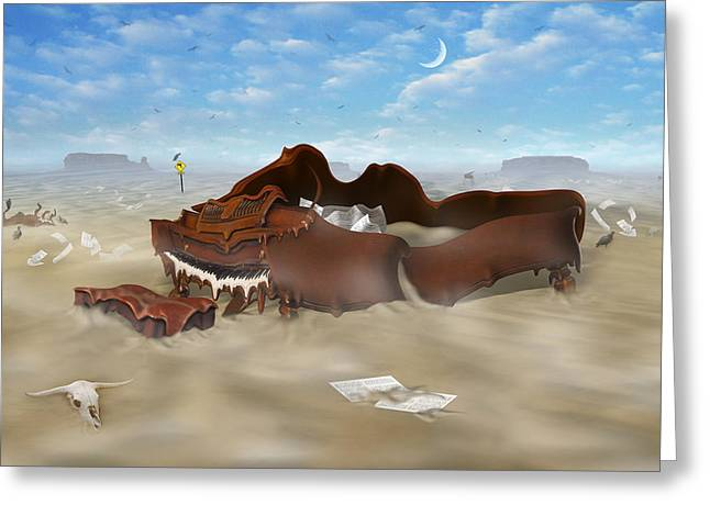 Imaginative Art Greeting Cards - A Slow Death In Piano Valley Greeting Card by Mike McGlothlen