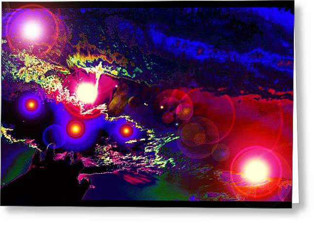 New Mind Digital Greeting Cards - A Small Act of Evening Magic Greeting Card by Susanne Still