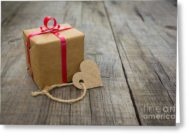 Surprise Greeting Cards - A small Gift Greeting Card by Aged Pixel