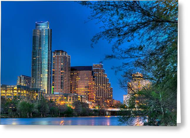 A Small Part Of Austin Greeting Card by Tim Stanley