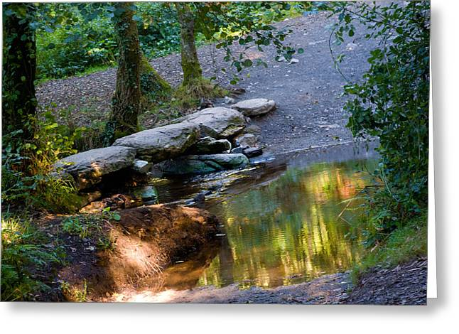Pilgram Greeting Cards - A Small River in Galicia Spain Greeting Card by Dave Byrne