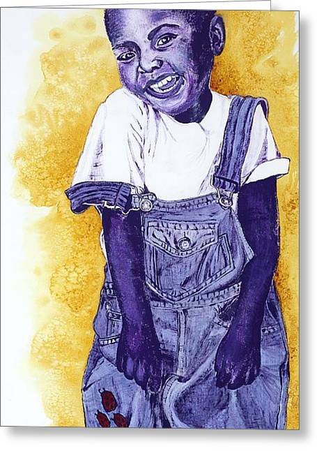 Missing Child Greeting Cards - A Smile for You from Haiti Greeting Card by Margaret Bobb