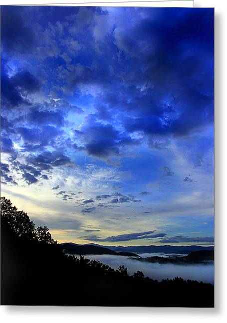 Gsmnp Greeting Cards - A Smoky Mountain Dawn Greeting Card by Michael Eingle