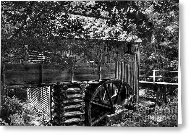 Grist Mill Greeting Cards - A Smoky Mountain Mill  Greeting Card by Mel Steinhauer