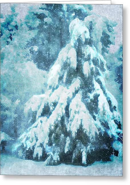 A Snow Tree Greeting Card by ARTography by Pamela Smale Williams