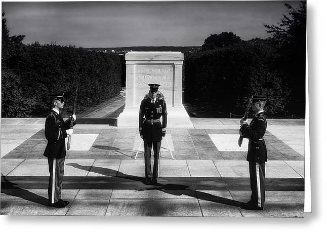 Arlington Greeting Cards - A Soldier Known Only To God Greeting Card by Mountain Dreams
