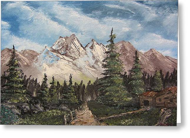 Bob Ross Paintings Greeting Cards - A Solitary Evening Greeting Card by Gavin Kutil